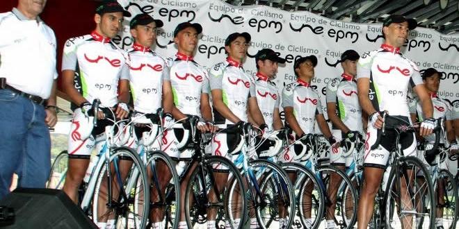 Definidos 24 ciclistas del equipo EPM – UNE – ÁREA METROPOLITANA 2015