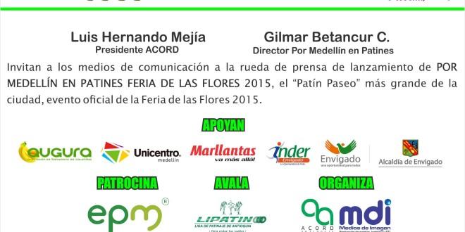 Lanzamiento Oficial Por Medellín En Patines Feria De Las Flores 2015