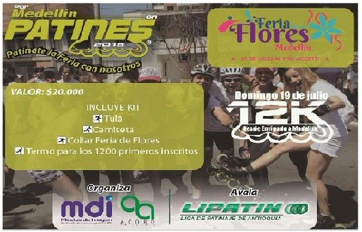 Por Medellín en patines, deporte y diversión en la Pre-Feria de las Flores 2015