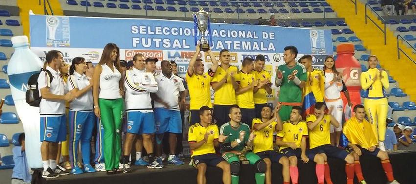 Selección Colombia de futsal, se coronó campeona de la Copa Guatemala