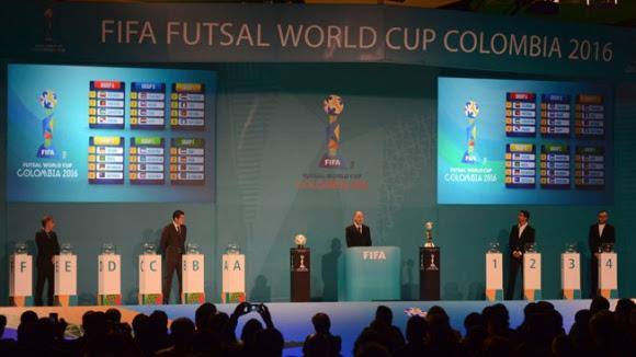 Definidos los grupos de la Copa Mundial de Fútsal de la FIFA Colombia 2016