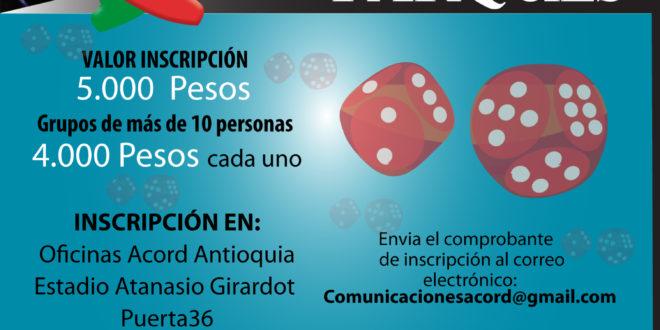 Continúan las inscripciones para el Tercer Festival de Parqués ACORD Antioquia.