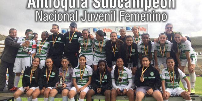 Antioquia subcampeón del Torneo Nacional Juvenil Femenino.