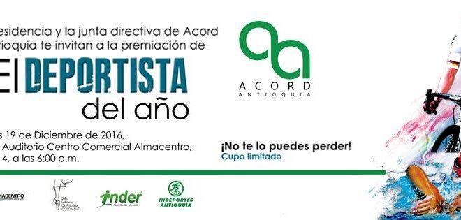 Definidos los nominados al Deportista del año de la ACORD Antioquia.